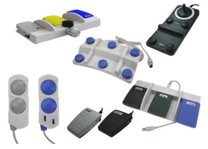 Pédales et télécommandes pour applications médicales