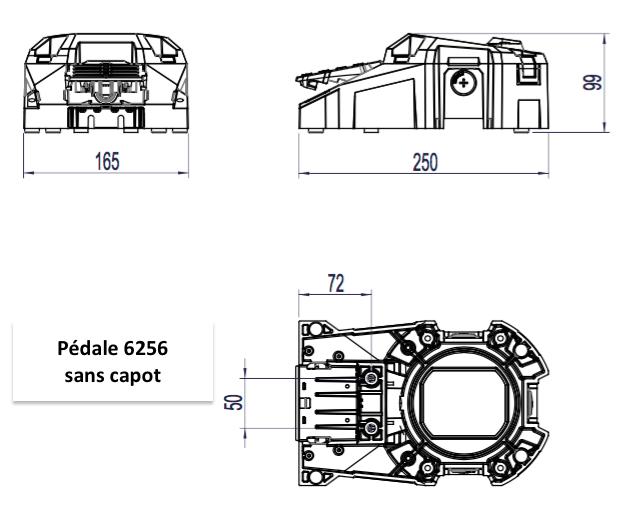 cote pedale 6256 sans capot