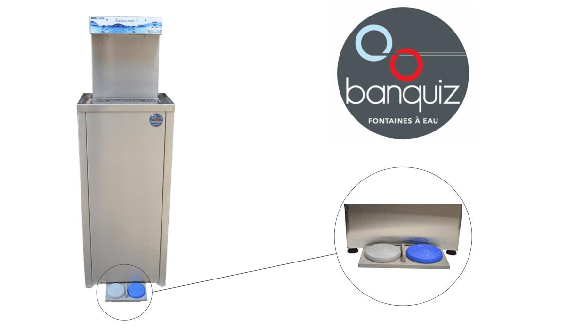 distributeur d'eau réseau à pédale